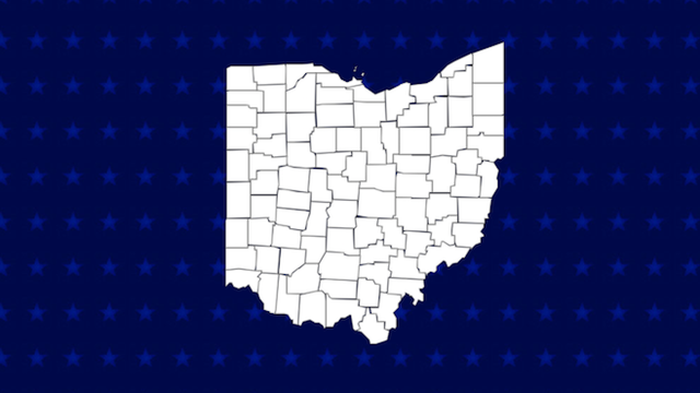 ohio county by county presidential map