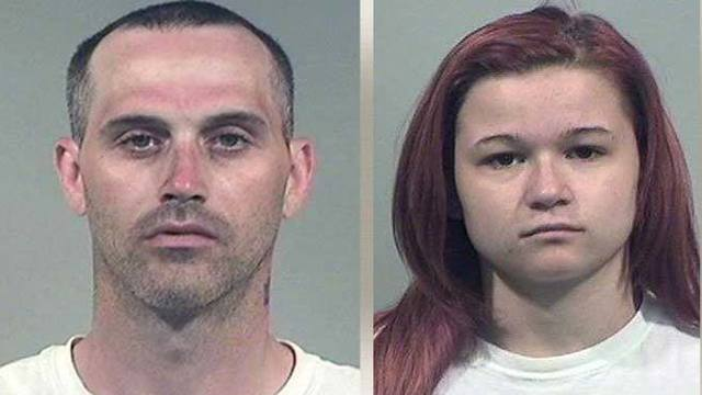 Two arrested, accused of robbing semi truck driver with knife