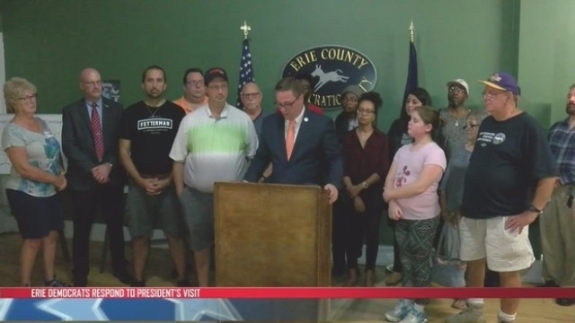Erie County Democratic Party responds to President Trump's visit