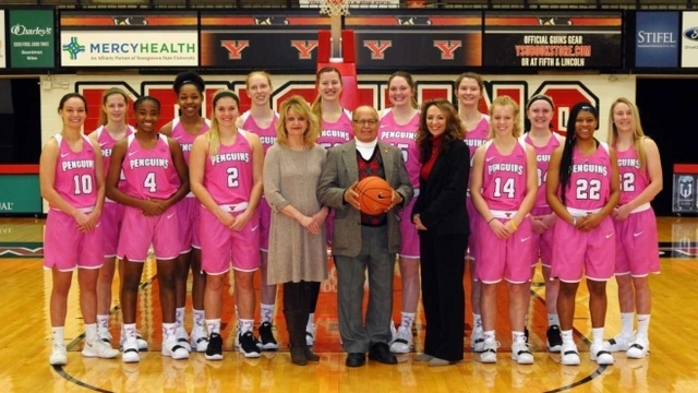 YSU Women's Basketball team gears up in pink to battle breast cancer