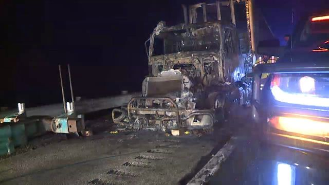 Semi catches fire on Ohio Turnpike in North Lima
