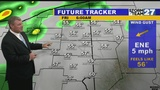 Scattered showers or storms Friday