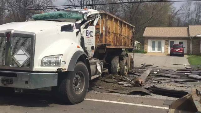 PHOTOS: Truck Crash on Route 165 in Green Township