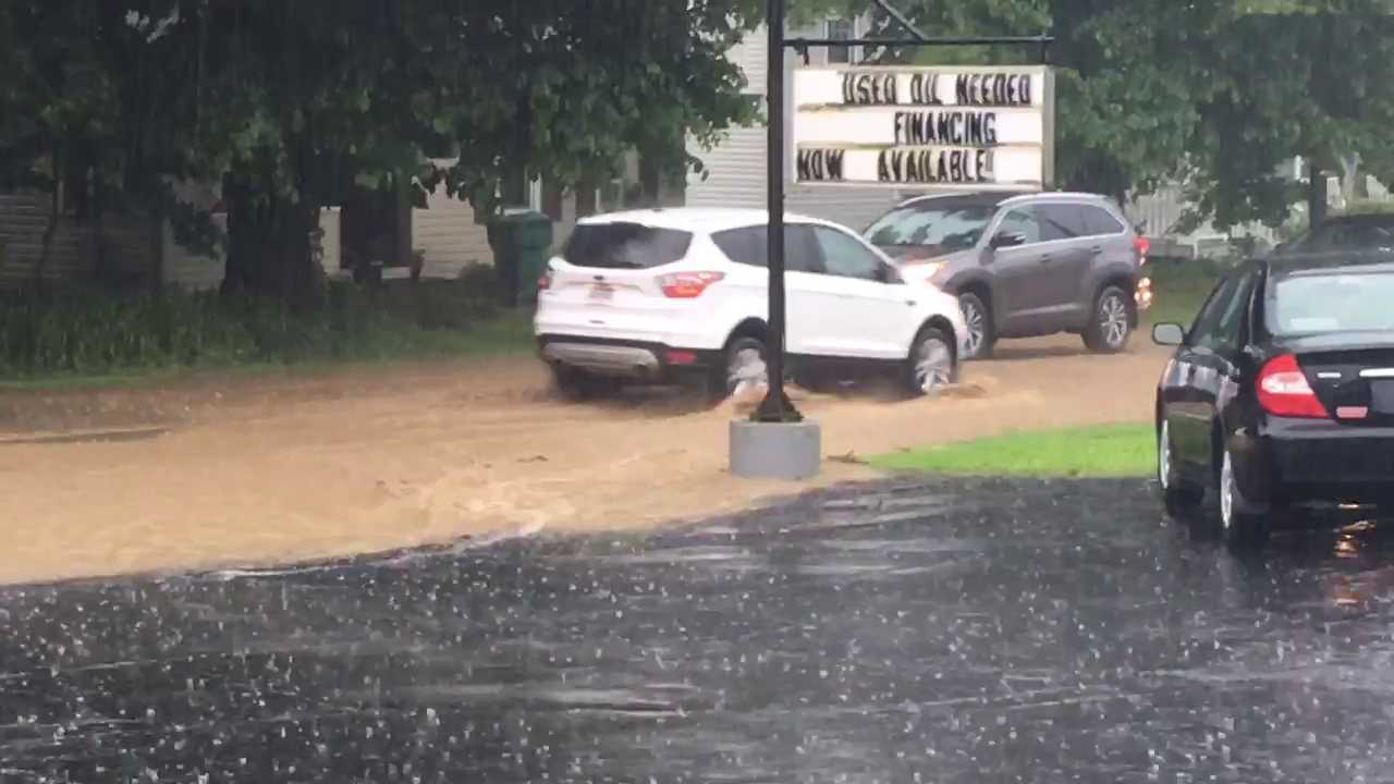 WATCH: High Water Along Route 18 In Mercer County